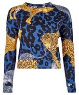 Dorothy Perkins Womens Lola Skye Multi Colour Animal Print Cotton Sweatshirt, Animal