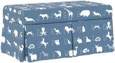 Skyline Furniture Hayworth Kids' Bench, Blue Alphabet