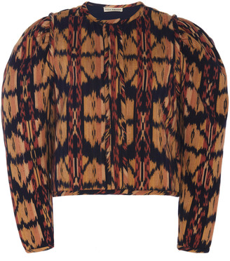 Ulla Johnson Roane Ikat-Printed Cotton Jacket