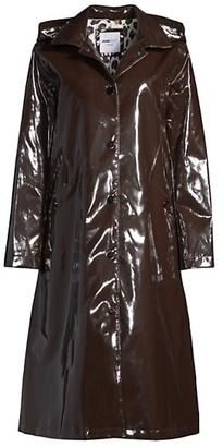Jane Post Long Hooded Rain Slicker
