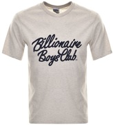Billionaire Boys Club Flock Script T Shirt Cream