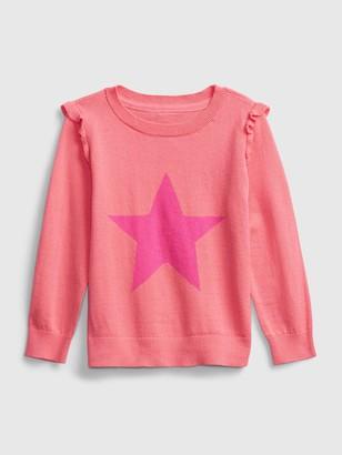 Gap Toddler Ruffle Graphic Crewneck Sweater