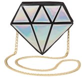Charlotte Russe Holographic Diamond Crossbody Bag