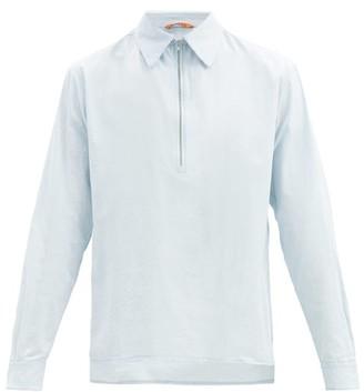 Barena Botega Half-zip Cotton-gauze Shirt - Light Blue