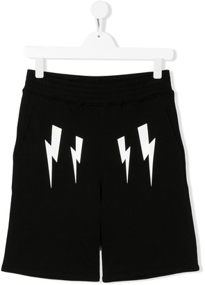 Neil Barrett Kids Lightning Bolt Logo Shorts