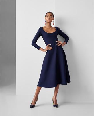 Ralph Lauren Stretch Knit Ballet-Neck Dress