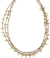 Anne Klein Goldtone and Faux Pearl Triple Strand Necklace