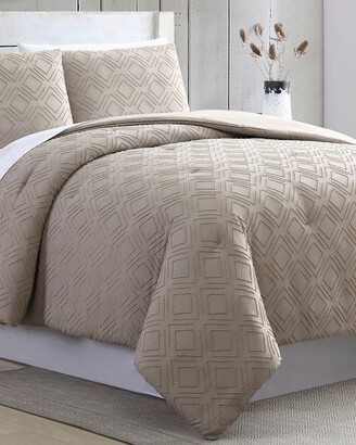 Modern Threads 3Pc Clipped Jacquard Comforter Set