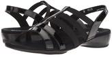 Munro American Bev (Black Patent Combo) Women's Sandals