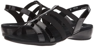 Munro American Bev (Black Patent Combo) Women's Sandals