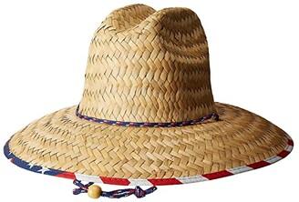 San Diego Hat Company Straw Lifeguard w/ Under Brim Print (Multi) Caps
