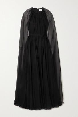 Alexander McQueen - Cape-effect Silk-chiffon Gown - Black