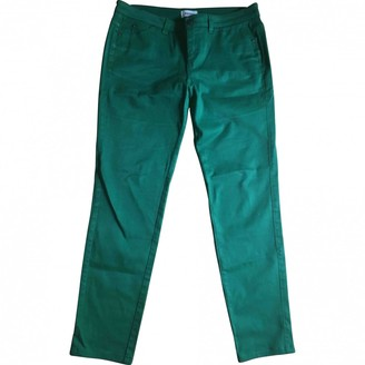 Kenzo Green Cotton - elasthane Jeans for Women