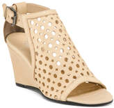 Made In Italy Hooded Leather Wedge Sandals