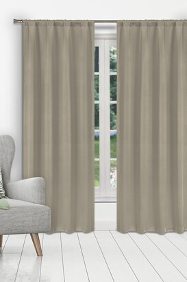 Duck River Textile Ira Solid Blackout Curtain Set - Stone