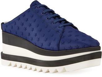 Stella McCartney Sneakelyse Lace-Up Star Mule Sneakers