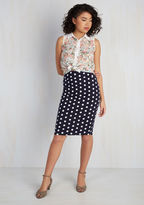 ModCloth All Work and Playful Skirt in Navy Dots in XXL