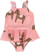 Mini Rodini pony print frilled swimwear