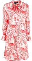 8pm Floral Print Shirt Dress