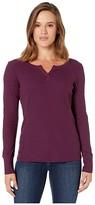 Columbia Fall Pinetm Long Sleeve Pullover (Black Cherry) Women's T Shirt