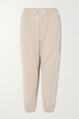 DKNY Color-block Stretch-jersey Track Pants - Neutral