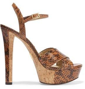 Michael Kors Addy Elaphe Platform Sandals