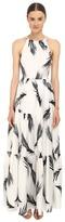 Zac Posen Palm Printed Maeve Maxi Dress