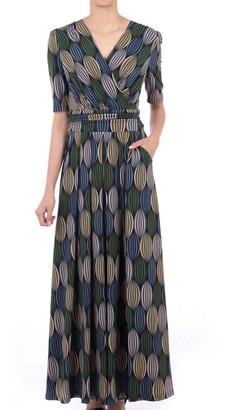 Jolie Moi Cross Front Maxi Dress, Green Multi