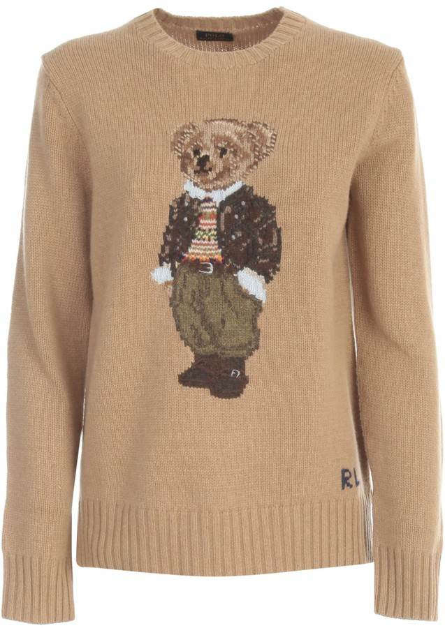 Polo Ralph Lauren Teddy Bear Intarsia Crewneck Jumper
