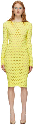 Maisie Wilen Yellow Perforated Dress
