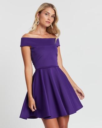 Loreta - Women's Purple Mini Dresses - Festive Dress - Size One Size, XS at The Iconic