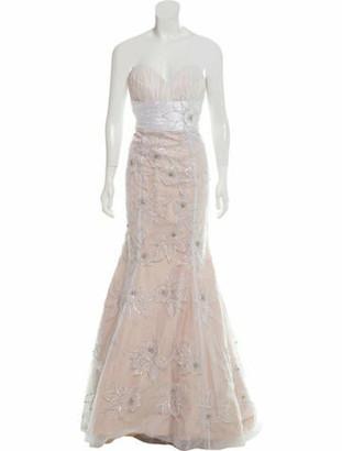 Jovani Embellished Evening Dress Champagne