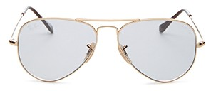 Ray-Ban Unisex Evolve Brow Bar Aviator Sunglasses, 55mm