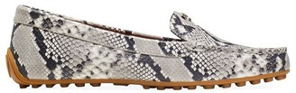 Kate Spade Deck Snakeskin-Embossed Leather Loafers