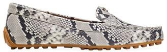 Kate Spade Deck Snakeskin-Print Flats