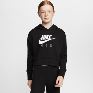 Nike Cotton Mix Cropped Hoodie, 6-16 Years