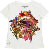 Philipp Plein Junior Embellished & Printed Jersey T-Shirt