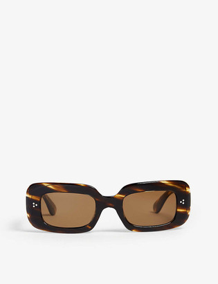 Oliver Peoples Saurine rectangle-frame sunglasses