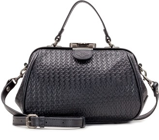 Patricia Nash Leather Embossed Woven Frame Bag - Gracchi