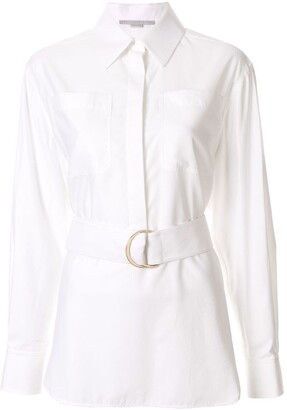 Stella McCartney Long-Sleeve Belted Shirt