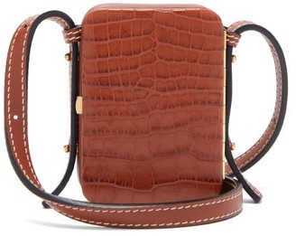 Lutz Morris Norman Mini Crocodile-effect Leather Bag - Tan