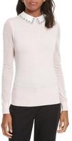 Ted Baker Women's Braydey Embellished Collar Sweater