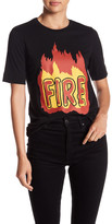 Love Moschino Fire Front Graphic Print Tee