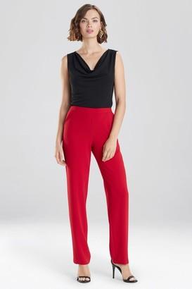 Natori Solid Crepe Slim Pants