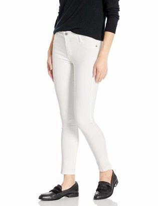 James Jeans Women's Twiggy Ankle Length Legging in White Clean Distressed 26