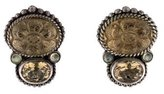 Stephen Dweck Citrine & Labradorite Clip On Earrings