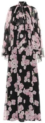 Giambattista Valli Floral-printed silk maxi dress