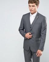 Farah Skinny Houndstooth Suit Jacket