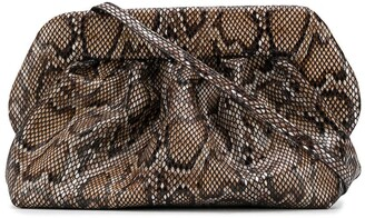 Themoire Bios snakeskin-effect clutch