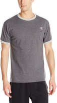 Champion Men's Jersey Ringer T-Shirt, Granite Heather/Oxford Gray